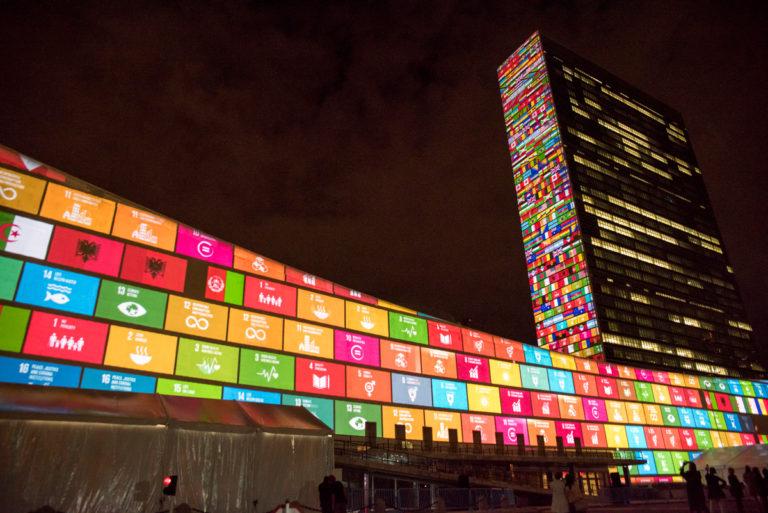 ニューヨークの国連本部の写真