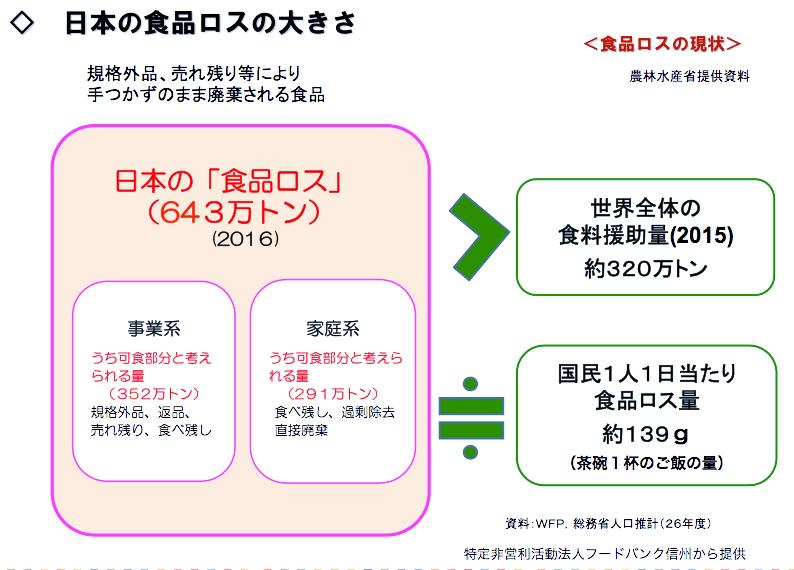 日本の食品ロスの大きさ 図表